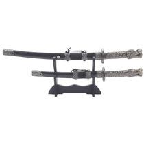 Espada Samurai Sabre Ornamental 2 Peças Luxo Katana