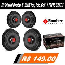 Alto Falante Bomber 6 Triaxial 200wrms Fox,polo,golf Jogo