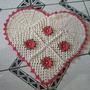 Tapete Coração Em Croche
