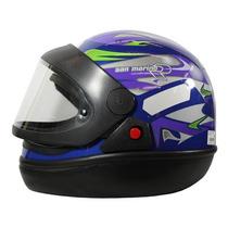 Capacete Moto Azul San Marino Tamanho 56