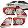 Kit Jogo 04 Lanternas Novo Corolla 2012 2013 Led