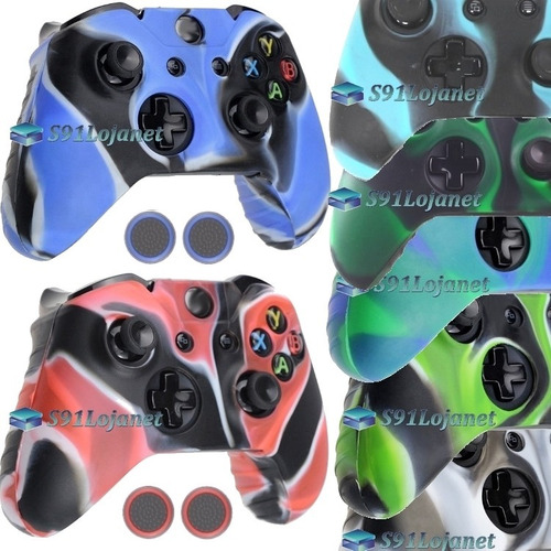 339570ee14c09 Capa Case Silicone Controle Xbox One Capinha Protetora+ Grip