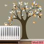 Adesivo Decorativo De Parede Infantil Árvores Corujas