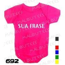 Body Personalizado Com A Sua Frase Body Coloridos Bebê