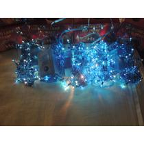 Pisca Pisca 100 Lampada Arroz Fio Silicone-azul Kit 5 Un