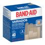 Curativo Band Aid Variado C/ 5 Diferentes Formatos - 40 Unid