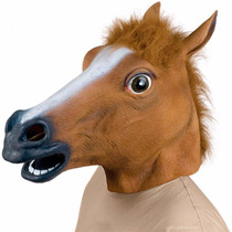 Máscara Cabeça Cavalo Terror Halloween Palhaço Fantasia