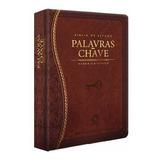 Bíblia De Estudo Palavras Chave Luxo Hebraico Grego Marrom