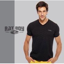 Camiseta Masculina Rat Boy Gola V - Preta