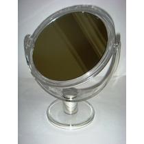 Espelho/maquiagem Base Acrílico Dupla Face 2x Aumento Médio