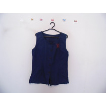 Camisa Feminina Azul-marinho Bordado Cód. 486