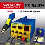 Yaxun Estação De Retrabalho De Solda + Fonte Yx884d+ 220v
