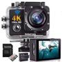 Câmera Sport Ação 4k  Ultra Cartão De Memoria Bat Extra