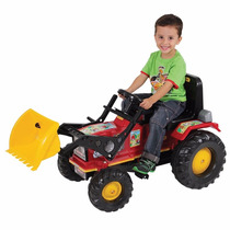 Mini Veiculo Trator Farmer Pedal Vermelho Com Pá - Biemme