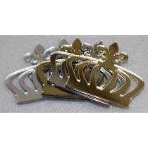 Mini Coroa Kit 10 Peças Acrílico Espelhado Prata Ou Dourado