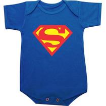 Body Infantil Personalizado Bebê Superman Herói Super-homem