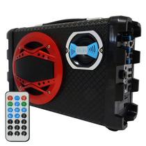 Caixa Som Portátil Bluetooth Rádio Fm Usb Recarregável Micro