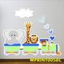 Adesivo Infantil Safari Trenzinho Girafa Leão Quarto Wpt42c