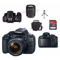 Canon Eos T5 Lente 18-55mm Isii+ Bolsa+tripe+32gb Classe 10