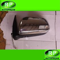Retrovisor Esquerdo Retrátil Cromado Toyota Hilux 2013