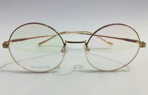 83f76e430e2f8 Armação De Óculos Grau Lentes Redondas Estilo Harry Potter