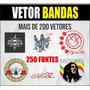 Imagens Vetor Bandas, Arte Editável Corel