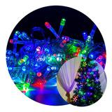 Cordão Pisca Led Colorido 8m Enfeites Natal Decoração