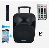 Caixa Ativa Eclapower 200w Rms Bluetooth 1 Microfone Sem Fio