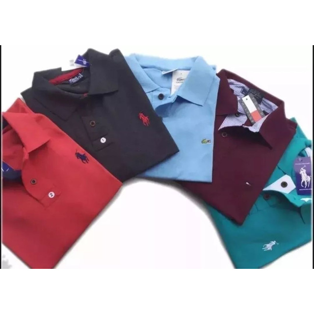 cd8103638d Kit 05 Camisa Polo Camiseta Masculina Blusa Gola em Congonhas - MG ...