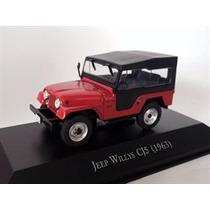 Miniatura De Jeep Willys Cj5 1963 Vermelho/preto 1:43 Ixo