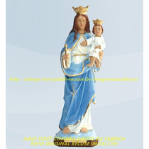 Escultura Nossa Senhora Auxiliadora Linda Imagem 60cm Fabric