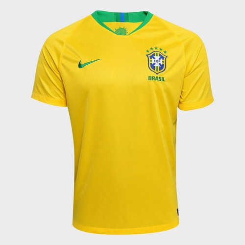 Camisa Nike Brasil Amarela Stadium 017b6762c2e59