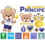 Ursinho Príncipe Rei Urso Vetores Corel Imagens Png