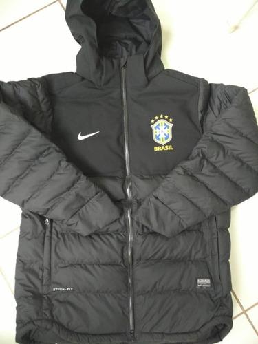 35b4aeaf4 Jaqueta Casaco Parka Nike Seleção Brasileira Jogador Jogo