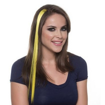 Mecha Colorida Amarelo Lisa / 50 Cm / Pronta Entrega!!!