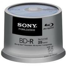 Mídia Sony Printable 50bnr25ap6 Blu-ray 25gb 6x Tubo Com 50