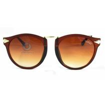 Óculos De Sol Gatinho Marrom   Preto   Frete Grátis