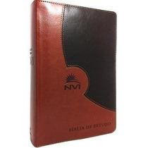 Bíblia De Estudo Nvi + Biblia Sagrada Letra Maior Capa Dura