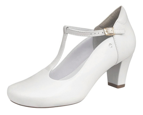 734edf450 Sapato Branco Feminino Modelo Boneca Noiva Enfermagem