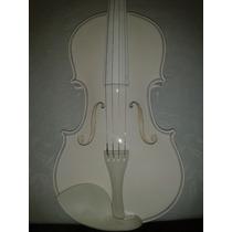 Violino 4/4 Para Iniciante - Completo, Branco Com Case