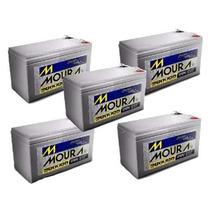 Kit 5 Bateria Estacionária Moura 12v 7ah Nobreak