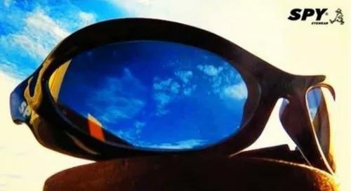 caab007d8 Óculos De Sol Spy Original - Mod Crato 42 Preto Lente Azul