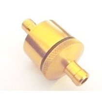 Filtro Moto Gasolina Universal Aluminaio Dourado