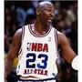 Camiseta All Star Game Nba #23 Michael Jordan Branca