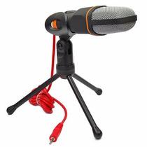 Estúdio De Gravação Microfone Condensador Mic Tripé Cabo