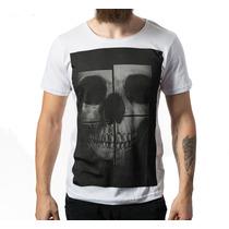Camiseta Caveira Slim Fit /academia/ Estonada/ Musculação