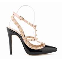 Sapato Importado Feminino Scarpin Tiras