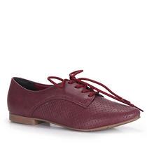 Sapato Oxford Feminino Via Marte - Vinho