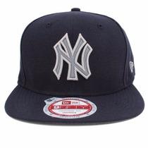 Boné Snapback Ny Yankees Skyline Original Fit Aba Reta Azul