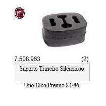 Coxim Escapamento Traseiro Uno / Premio / Elba / Fiorino /86